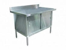 "Worktable Cabinet (w/ 3"" overhangs) 30"" x 60"" with 4"" Backsplash 