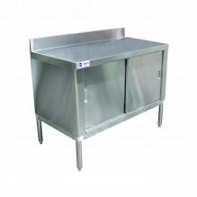 "Worktable Cabinet (flush edge) 30"" x 48"" with 4"" Backsplash 