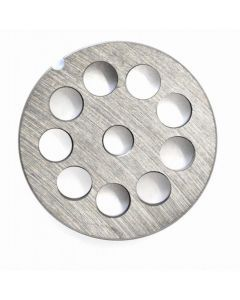 """European Style #12 stainless steel plate, hubless, 12mm (1/2"""") - one notch/ round"""