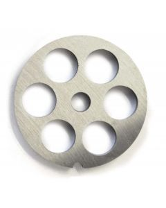 """European Style #12 stainless steel plate, hubless, 18mm (3/4"""") - one notch/ round"""