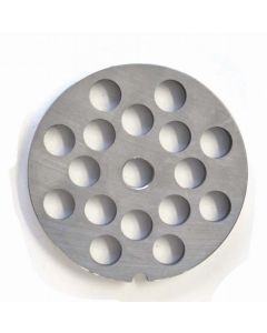 """European Style #22 stainless steel plate, hubless, 12mm (1/2"""") - one notch/ round"""