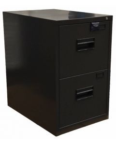 Charcoal Black Legal Vertical File Cabinet with Two Drawers