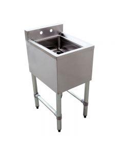 "1 Compartment Underbar Sink with No Drain Board 10"" X 14"" X 10"""