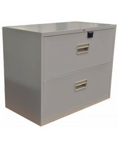 Light-Gray Legal Lateral File Cabinet with Two Drawers