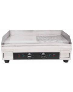 """24"""" Half Ribbed Electric Griddle - 3.6 kW"""