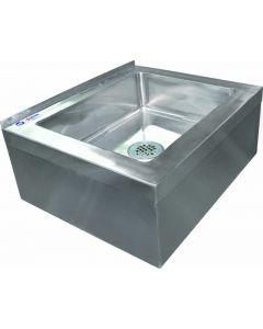 20 x 16 x 6 Stainless Steel Floor Mop Sink 16 Gauge with Drain Basket