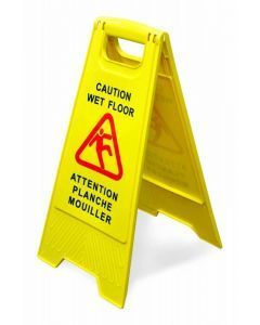 A-Shape Caution Sign - English/French Yellow
