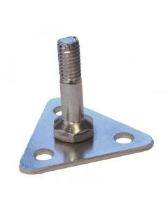 Foot Plate for Wire Shelving - Epoxy and Chrome