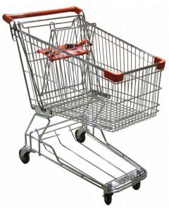 """Supermarket Grocery Shopping Cart with 110 Lb Load Capacity- 33"""" L x 20.5"""" W x 36.5"""" H"""