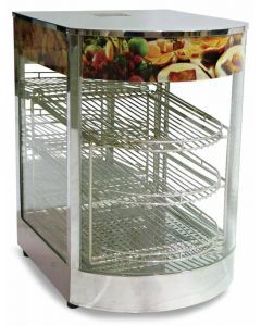"""14"""" Display Warmer with Curved Glass"""