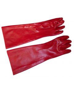 "Johnson Rose Glove Rubber Pot/Sink Red 17"" (Pair)  30918"