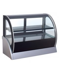 """36"""" Curved Glass Refrigerated Display with Single Access"""