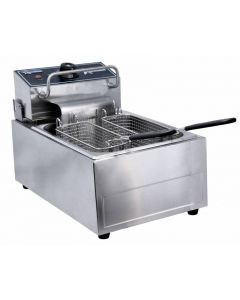 110V Single Table Top Electric Countertop Fryer