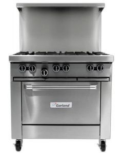 """Garland G36-6R G Series 36"""" Gas Restaurant Range with 6 Burners and 26"""" Oven"""