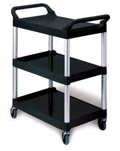 "Rubbermaid 3424-88 Utility Cart/4""dia (10.2 cm) Swivel Casters Black"