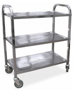 """Stainless Steel Bussing Cart - 27.25"""" x 15.75"""""""