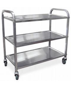 """Stainless Steel Bussing Cart - 31.5"""" x 17.6"""""""