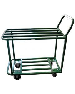 All Welded Stocking Cart - Powder Coated Green