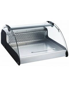 """16"""" Countertop Curved Glass Refrigerated Showcase"""