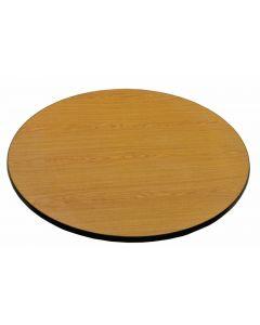 "24"" Diameter x 1"" Laminated Round Table Top Reversible Oak/Walnut"