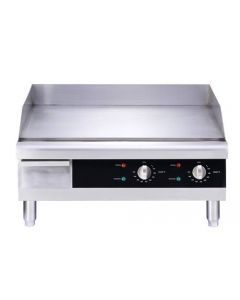"""24"""" Countertop Stainless Steel Electric Griddle - 3560 W"""