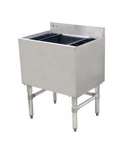 """18"""" X 24"""" Stainless Steel Underbar Ice Bin with Cold Plate and Bottle Holders"""
