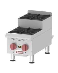 Countertop Stainless Steel Step Up Gas Hot Plates with 2 Burners