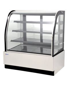 """47"""" Curved Glass White Refrigerated Display Case"""