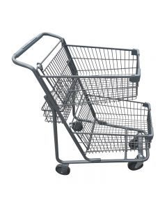 Shopping Cart with Double Baskets