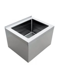 28 X 20 X 12 Stainless Steel Floor Mop Sink 16 Gauge with Drain Basket