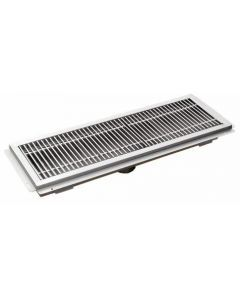 """12"""" x 72"""" Floor Trough With Stainless Steel Grating"""