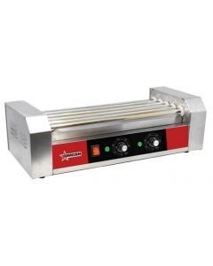 Omcan Hot Dog Roller with 5 Rollers - Without Sneeze Guard