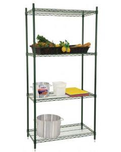 "Zanduco Heavy Duty Commercial Epoxy Shelf Set (4) 18"" X 60"" Shelves & (4) 72"" Posts With Levelers"