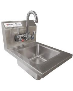 """Wall Mounted Hand Sink with 4"""" Low Lead Gooseneck Faucet"""