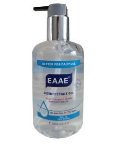Hand Sanitizer with 75% Alcohol 300 ml Clear Bottle with Pump