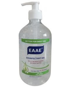 Hand Sanitizer with 75% Alcohol 500 ml Clear Bottle with Pump