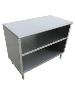 "Zanduco 18-Gauge Stainless Steel Dish Cabinet - 15"" x 48"" x 36"""
