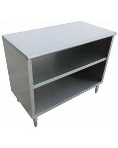 "Zanduco 18-Gauge Stainless Steel Dish Cabinet - 18"" x 72"" x 36"""