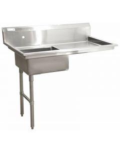 "Zanduco 48"" Left Side Under Counter Dish Table"