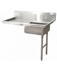 "Zanduco 48"" Right Side Under Counter Dish Table"