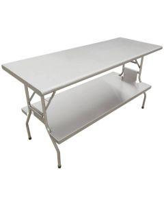 """Zanduco Folding Table With Undershelf S/S 30"""" X 72"""" X 30 5/8"""""""