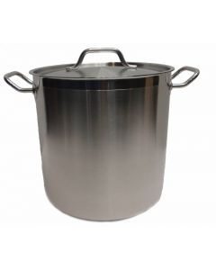 Johnson Rose Stainless Steel Stock Pot with Lid 60 qt 47602