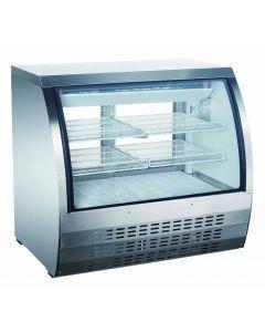 "Zanduco 47"" Stainless Steel Floor Model Refrigerated Showcase 18 cu. ft."