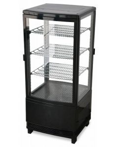 """Zanduco 17"""" Countertop Four Sided Glass Refrigerated Showcase - Two Door"""