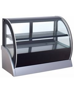 """59"""" Curved Glass Refrigerated Display with Dual Access"""