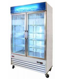 """Zanduco 49"""" 2-Door Glass Merchandiser Freezer"""