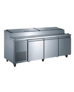 """Zanduco 92"""" Refrigerated Pizza Prep Table"""
