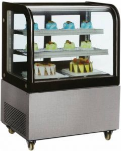 Zanduco Standing Display Refrigerator & 370L Capacity with Curved Glass