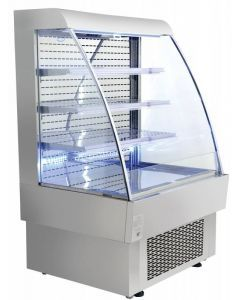 """Zanduco 40"""" Open Refrigerated Display Case with 13.42 Cu. Ft."""