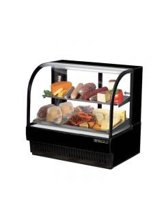 "True TCGR-50-CD 50"" Curved Glass Refrigerated Deli Case - 27.4 cu. ft."